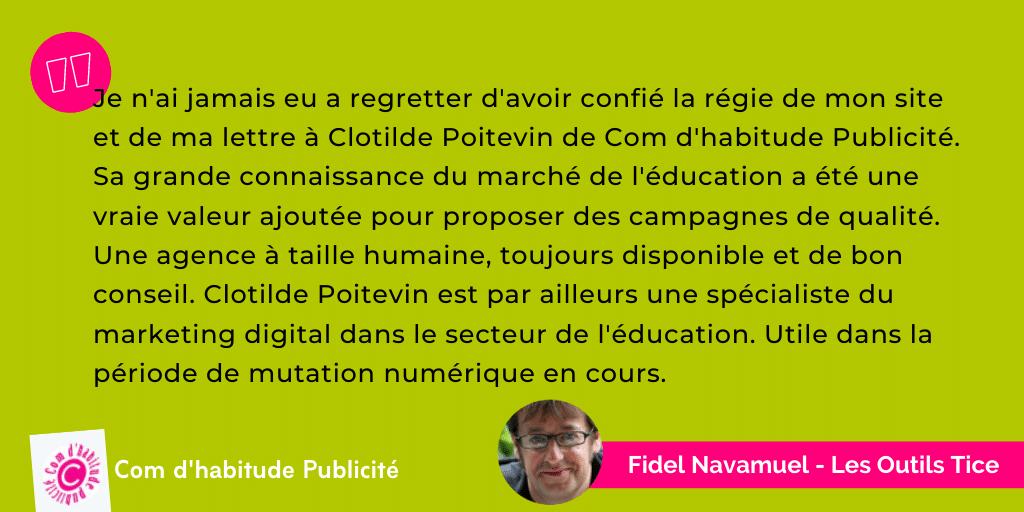 Témoignage Comdhabitude - Fidel Navamuel - Les Outils Tice