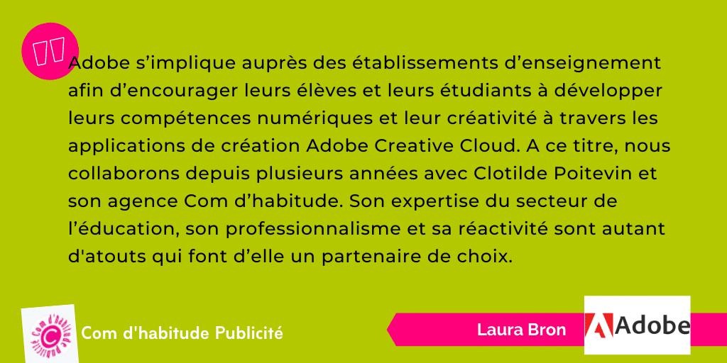 Témoignage Comdhabitude - Laura Bron - Adobe